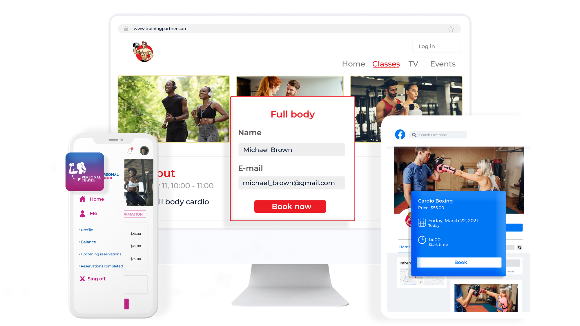 Online Booking and Branded App Personal Trainer
